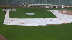 11/2016 time to cover up the infield at Miller Park for the winter!