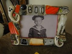 Mosaic art Halloween picture frame