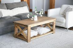 Rustic X Coffee Table Homemade Coffee Tables, Diy Coffee Table Plans, End Table Plans, X Coffee Table, Simple Coffee Table, Outdoor Coffee Tables, Rustic Coffee Tables, Solid Wood Coffee Table, Decorating Coffee Tables