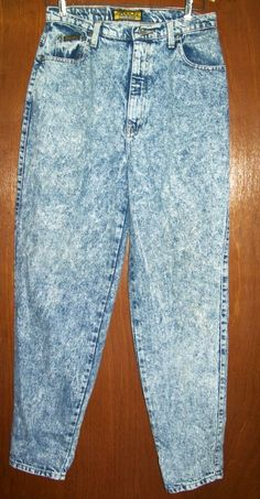 Stone Washed Jeans. why was this ever good??