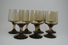 Libbey Accent Tawny Wine Glasses Set of 7