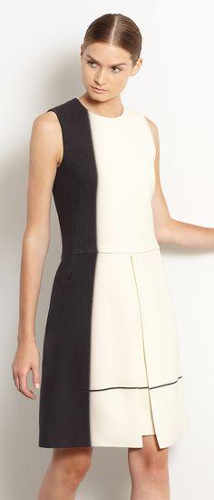 Color block like a pro in Akris' versatile Drape-Skirt Dress.