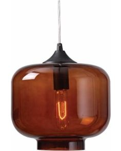 "Kenroy Home Jones 10"" Wide Amber Glass Pendant from Lamps Plus 