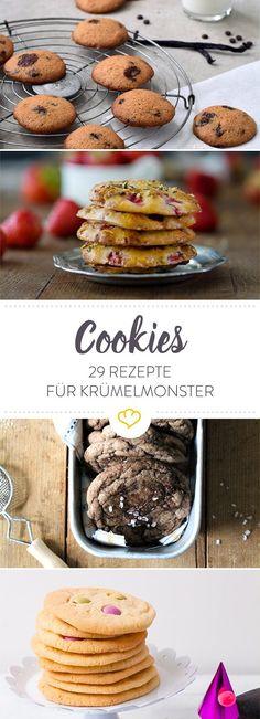 An die Cookies, fertig, losbacken! Ob mit Kürbis im Herbst, schokoladig im Winter oder fruchtig in Frühling und Sommer - wir haben Kekse für jede Saison.