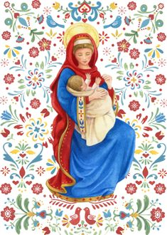 Leading Illustration & Publishing Agency based in London, New York & Marbella. Religious Images, Religious Art, Mother Mary, Mother And Child, Hail Holy Queen, Images Of Mary, Christian Images, Mama Mary, Sainte Marie