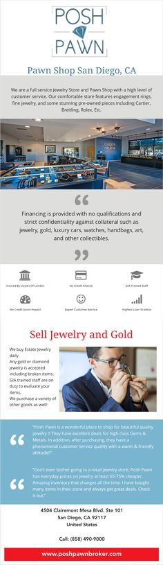 Prior to opening Posh Pawn (http://www.poshpawnbroker.com) we founded, grew, and sold several successful businesses. When we went looking for our next venture we wanted to do something where we could apply our experience to bring a fresh new method to an industry. Posh Pawn is our attempt to raise the bar and give the customers of this 5000 year old industry more respect and service then typically found in most pawn shops.