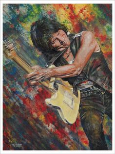 """Geoffrey Arnold """"Jeff"""" Beck (born 24 June 1944) is an English rock guitarist. He is one of the three noted guitarists to have played with The Yardbirds (the other two being Eric Clapton and Jimmy Page). Beck also formed The Jeff Beck Group and Beck, Bogert & Appice."""