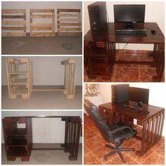 Pallet Computer Desktop Desks & Tables