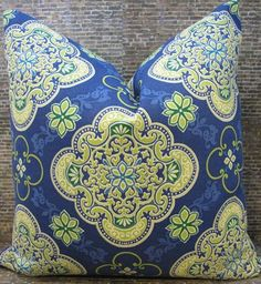 Designer Pillow Cover   Ayla Medallion Crest  by 3BModLiving, $34.00