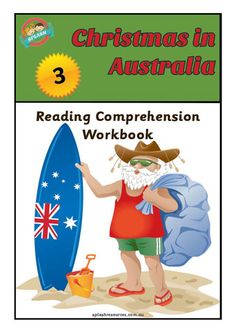 Reading Comprehension Workbook - Christmas in Australia – Splash Resources Christmas In Australia, Camping, Reading Comprehension, Teaching Resources, Activities, Holidays, Products, Campsite, Holidays Events