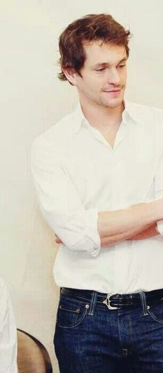 Crisp white shirt, blue denim, the belt on Mr. Dancy.  He gets it done perfectly.  I like it so much!