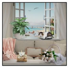 """""""Room with a View"""" by signaturenails-dstanley ❤ liked on Polyvore featuring interior, interiors, interior design, home, home decor and interior decorating"""