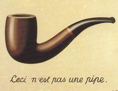 Magritte. Fortfarande bra. Om det inte är en pipa, vad är det då?