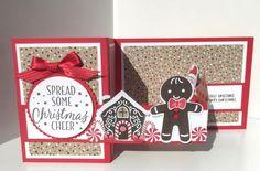 Cookie Cutter pop up Z fold card -
