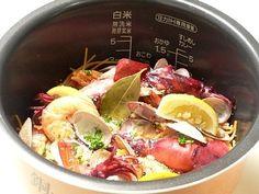 炊飯器で作る、パスタパエリア