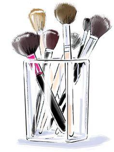 Hélène Métivet illustrator represented by Caroline Maréchal. Makeup Backgrounds, Makeup Wallpapers, Makeup Drawing, Makeup Art, Art Mural Fashion, Fashion Art, Art Beauté, Mode Poster, Makeup Illustration