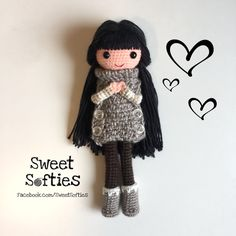 """Camille the Autumn Belle Amigurumi Crochet Japanese Anime Girl Doll Pattern, 2-in-1 DEAL! (12"""" Slender Doll Base + Outfit and Hair Tutorial) by Sylemn on Etsy art doll kawaii sweet dress up toy children girls"""