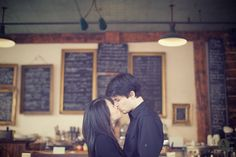 Your engagement photo shoot could be in the coffee shop where you met