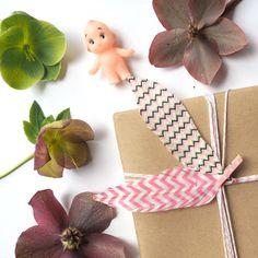 Handmade Feathers  Zig Zag Pink & White  Pink Baby by kaetoo