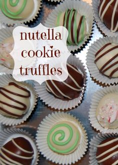 Nutella Cookie Truffles.  I am so making these for Chocolate Friday!
