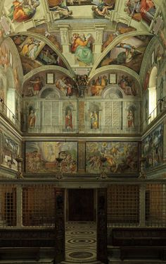 Sistine Chapel - the Vatican - Rome, Italy - The other wall....
