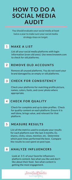 How To Do A Social Media Audit-JerriGailCreates.com #socialmedia #socialmediamarketing