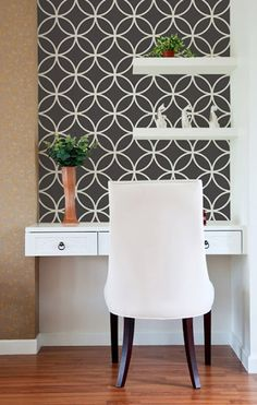 like it...one stenciled accent wall