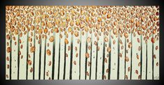Birch Trees Forest Abstract Acrylic Paintings Part 5 Acrylbilder Kunst M...