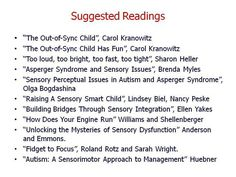 Sensory *Suggested reading*