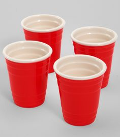 Red solo shot glasses...