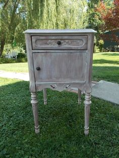 Shabby Chic Side Table at Ancient of Daze by ancientofdaze on Etsy, $159.00