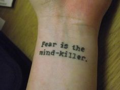 tattoo quotes,  from Dune