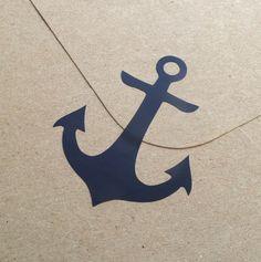 24 Anker Aufkleber, Vinyl zu verankern, Abziehbilder, abnehmbare Tapete, Umschlag Siegel nautische Partei Dekoration, Glas…