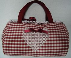 Broderie suisse or chicken scratch embroidery bag. so cool, will try something like this for summer