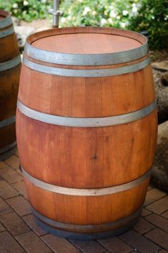 Barrel bar table at the Fig Tree