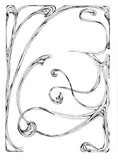 Border Art Nouveau 17 - Beinspyred's Sta.sh