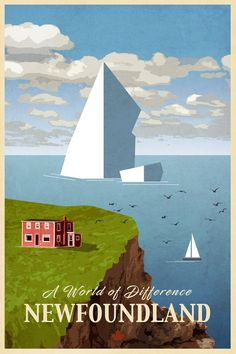 Your Travel Direct. How You Can Make Your Travel Plans With The Least Amount Of Effort. There are many things you can do to help ensure your safety while you travel solo. Voyage Canada, Alberta Travel, Newfoundland And Labrador, Newfoundland Canada, Travel Illustration, Travel Alone, Vintage Travel Posters, Pics Art, Canada Travel