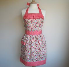 Frilly & floral apron. I'm sure this would inspire me to do more house work.