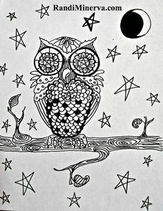 owl coloring sheet by r minerva via flickr