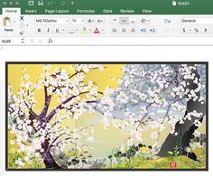 Arte Digitale - I dipinti di Excel di Tatsuo Horiuchi