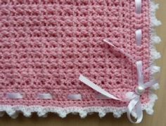 Free Crochet Baby Blanket Pattern. Stunning! Thanks so for this lovely share xox