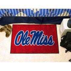 Mississippi Rebels NCAA Starter Floor Mat (20x30) Ole Miss Logo