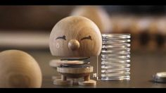 Watch the making of the smiling wooden Hoptimists, that are beautifully crafted in oak! #danishdesign #danishhoptimists #smile