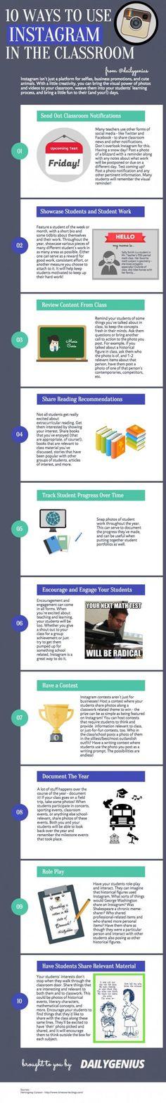 10 maneras de utilizar Instagram en el aula con nuestros estudiantes, recordad que es su red favorita #edchat - Inevery Crea