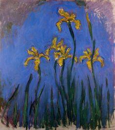 Клод Моне - Yellow Irises, 1914-17. Клод Оскар Моне