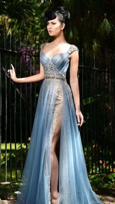 evening gown, the v-