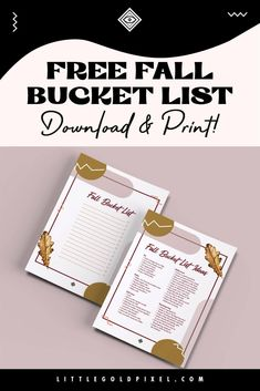 40 Fall Bucket List Ideas   Free Printables • Little Gold Pixel Pumpkin Seed Recipes, Weathered Paint, Glitter Pumpkins, Going For Gold, Fall Scents, List Template, I Fall, Diy Gifts, Free Printables