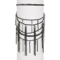 Free Press Layered Snake Stick Fringe Bracelet (11 CAD) ❤ liked on Polyvore featuring jewelry, bracelets, hematite, layered jewelry, fringe jewelry, snake bangle and snake jewelry