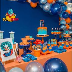 Festa Dragon Ball Z e Dragon Ball super - Mais de 50 ideias - Goku Birthday, Dragon Birthday, 2nd Birthday, Ball Birthday Parties, Birthday Celebration, Festa Monster Truck, Dragonball Z Cake, Dbz, Cake Decorating Designs