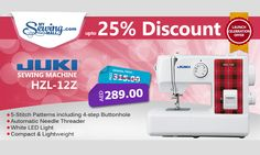 Juki HZL-12Z #sewing #machine #online #shopping #discount #sale #MySewingMall